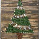 Christmas Tree String Art Kit- DIY String Art Kit, Christmas Crafts, Craft Kit for Adults, Adults Arts and Crafts, Christmas Tree Decor, Holiday Crafts, All Supplies Included