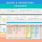 Sales & Inventory Tracker – Excel Spreadsheet/Template – Instant Download