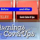 Awning CoverUp Graphic for your Business Canopy, Awning, Shades - up to 8\ tall x 96\ wide CoverUp