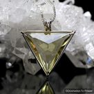 Citrine Quartz Angelic Star Crystal Pendant 14k