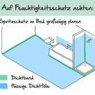 Trockenbau im Bad: Das ist bei Gipskartonplatten z. B. Rigips zu beachten