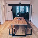 Industrial Wood Dining Set
