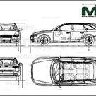 Audi S4 Avant 2009   Disegno 2D   30139   Model COPY   Italiano