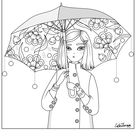 Color Therapy Gift of the Day Free Coloring Template