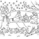 Kerst: kleurplaat herders