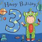 Auguri Di Buon Compleanno Bambina 3 Anni - Semplice Invito