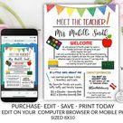 Meet the Teacher Template, Welcome back to school note, Parent Teacher Form, Teacher Template, Teachers Newsletter, School Newsletter, DIY