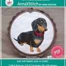 Dapple dachshund mom cross stitch pdf pattern