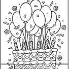 ballonnen verjaardag - TopKleurplaat.nl