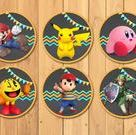 24 Super Smash Brothers Cupcake Toppers  Super Smash Brothers | Etsy