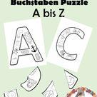 Buchstaben Puzzle   Anlaute A Z für die 1.Klasse Deutsch