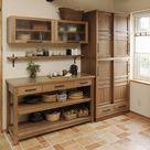 wood. glass. olive tile. (coffee bar + fridge)