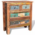 ZNTS Reclaimed Cabinet Solid Wood with 4 Drawers 241136