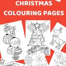 Children's Christmas Colouring Pages