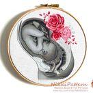 Embryo cross stitch pattern Human anatomy cross stitch Modern | Etsy