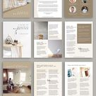 eBook Canva Template - Mink - 24 Unique Page Templates - Perfect for Bloggers and Course Creators