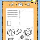postkaart vakantie - kiddicolour