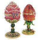 Design Toscano Garden Treasures Faberge Style Enameled Egg - FH91689