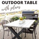 DIY X-Leg Outdoor Table With Plans