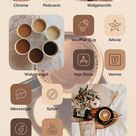 iPhone IOS 14 & Android App Icons Arabica | 76 Pack