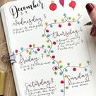 20+ Best December Weekly Spread Ideas For Bujo Addicts - Crazy Laura