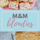 M&M Blondies (delicious blonde brownies recipe) | Fab Everyday