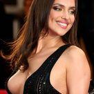 Hot Irina Shayk in Black Dress