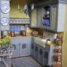 Blue Yellow Kitchens