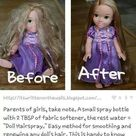 Fixing Doll Hair
