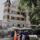Sektempfang im Freien / Hochzeitsinspiration