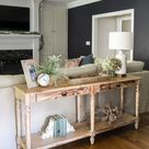 How to Style a Console Table Behind a Couch (4 ways!)