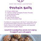 Easy No-Bake Lactation Protein Balls