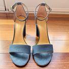 Ivanka Trump Denim Blue Block Heel Shoes, size 6.5