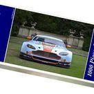 1000 Piece Puzzle. Aston Martin V8 Vantage GTE Le Mans racecar , 2013, Blue, Gulf livery