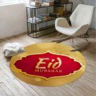 Islamischer Muslim Eid Mubarak Rundes Wohnzimmer Schlafzimmer Bodenmatte Teppich JIY210318070C
