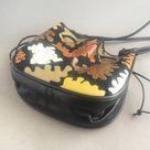 1980s python skin and mesh bag  Andrea Pfister