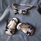 Black Ribbon Sandals