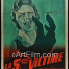 While The City Sleeps original movie poster Fritz Lang film noir 47x63 R50's