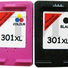 2x 301 XL DRUCKER PATRONEN Kompatibel für HP Deskjet 1010 301 XL Schwarz Farbe