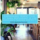 Copenhagen Cement Tiles At Dama Restaurant In Los Angeles's Fashion District