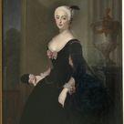 Antoine Pesne - Anna Elisabeth von der Schulenburg, 1720-1741, g. Von Arnim-Boytzenburg, countess, Prussian lady-in-waiting - fine art print - Canvas print / 120x160cm - 47x63