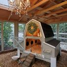 Chateau de Blanche Chicken Coop with Chandeliers  :)
