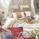 Romantic pillow ideas for decoration, vintage or boho style
