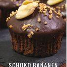 Schoko Bananen Muffins   Friedas Kitchen on my mind