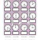 Pdf online activity: What time is it?