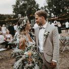 Franziska & Leon Boho Wiesenhochzeit im Sommer   Hochzeitswahn