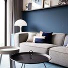 Shop the look: moderne woonkamer met blauwtinten