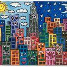 James Rizzi ~ Pop Art Buildings