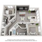 1 & 2 Bedroom Floor Plans   Echo Apartment Homes in Dallas, TX