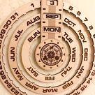 Perpetual Calendar/Wooden Calendar/Wall Calendar/Forever Calendar/Valentine gift/wall art/Personalized Calendar/corporate gift/2020 Calendar